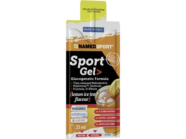 NAMEDSPORT Sport Energy Caja de Geles 15 x 25ml, Ice Tea